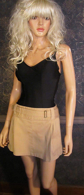 Victoria's Secret Beige Khaki Mini Skirt Swimsuit Cover-Up Size 14  209683