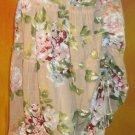 Victoria's Secret Lined Pink & Beige Cotton Long Floral Skirt 8   193445