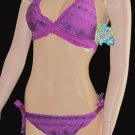 NWT Victoria's Secret BECCA $128 Purple Banded Bikini Small Medium 237898