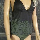 New Victoria's Secret Dark Green English Palm Tankini Small Medium  233001
