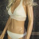 Victoria's Secret $65 White Crochet Lined Mesh Bikini 12  162514