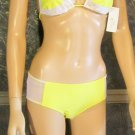 NWT Victoria's Secret Letarte $76 Yellow & White Hot Short Bikini 8  162542