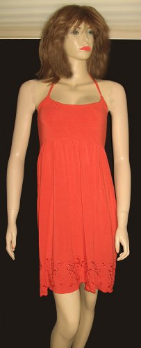 Victoria's Secret Orange Halter Sun Dress Small 197390