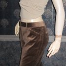 Victoria's Secret $78 Brown Christie Fit Velvet Pants 8  178646