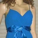 Victoria's Secret ABS Allen Schwartz Sleeveless Dressy Party Blue Top Small 175197
