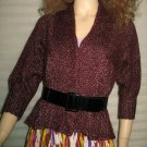Victoria's Secret Mohair Blend Dark Red Cardigan Sweater Medium 203762