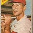 1966 Topps #163 Tito Francona Cardinals Baseball Cards Card