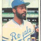 1984 Fleer #364 Willie Wilson Baseball Cards Card