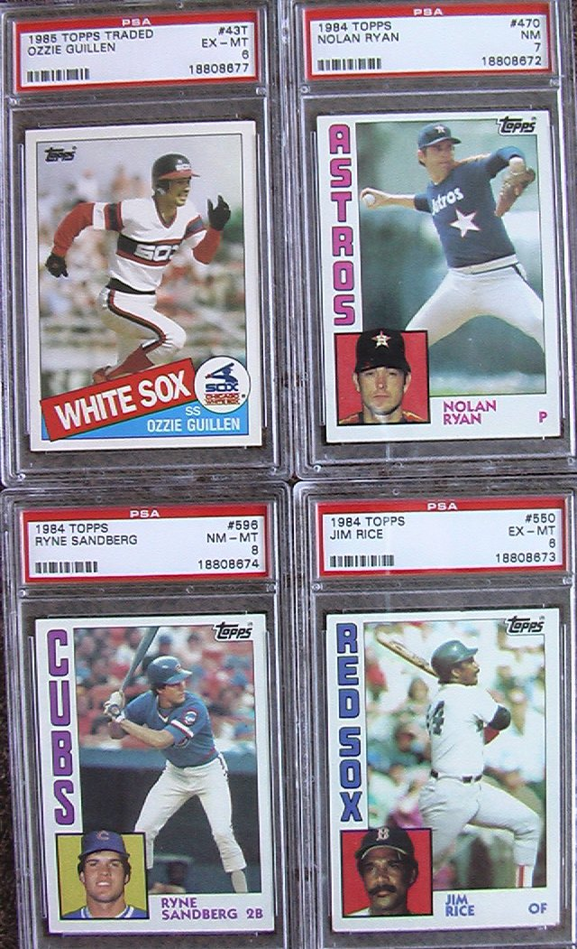 1985 Topps Traded Ozzie Guillen Rookie #43T PSA Certified Baseball Cards Card Rare Vintage Old