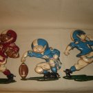 VINTAGE HOMCO FOOTBALL PLAYER SET 3 FIGURES1976