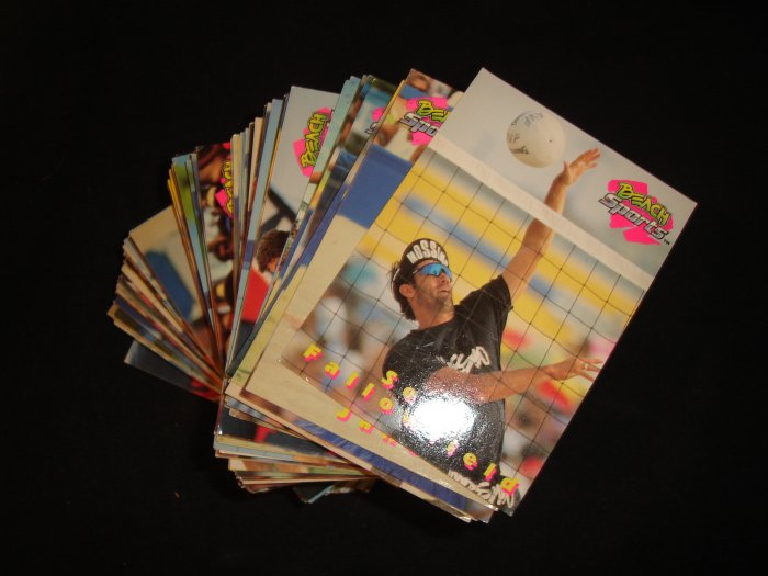 BEACH SPORTS TRADING CARDS VOLLEYBALL 125 CARDS