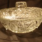 CRYSTAL CANDY DISH BEAUTIFLY DEISIGNED HEART W/ FLOWERS