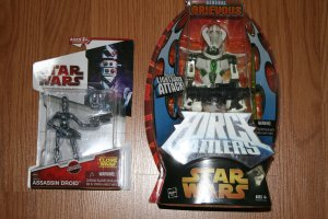 General Grievous Force Battlers Star Wars 2005 and Assassin Droid IG-86 2009