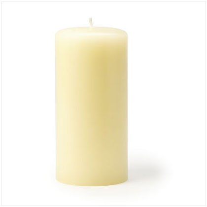 Ivory Unscented Pillar Candle