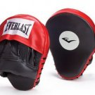 Red and black Everlast boxing hand target