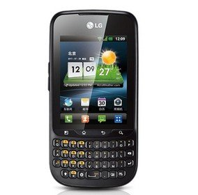 LG C660 Optimus Pro GSM Android 2.3 Touchscreen Qwerty 3G Wifi Cell Phone---Black