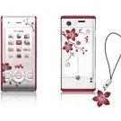 SONY ERICSSON W595 unlocked CELL PHONE-----WHITE FLOWERS