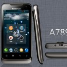 """Unlocked Lenovo A789 Dual-SIM Dual-Core 1GHz 4"""" 5MP Android OS 3G Smartphone---Black"""