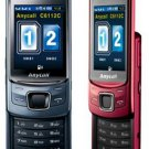 Unlocked Samsung anycall C6112C/C6112 dual-sim slider big-font cell phone---Red,Black,Blue