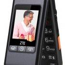 ZTE L588 dual flip phones loud big screen for elderly for the elder men and women----Black,Red
