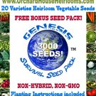 Survival Seed Pack*Heirloom*Non GMO*Over 3,000 Seeds! PLUS FREE Bonus!