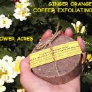 Ginger Orange Coffee Soap New Round Shape*Coffee Grounds*Exfoliating