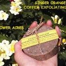 Ginger Orange Coffee Soap New Round Shape*Coffee Grounds*Exfoliating
