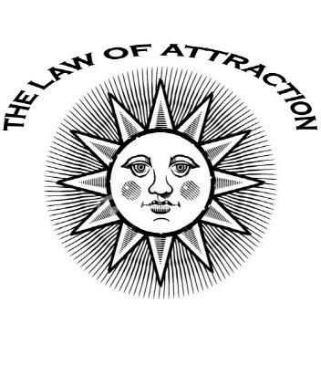 Law of Attraction Sun Design Tshirt Men's