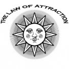 Law of Attraction Sun Design Tshirt Men's