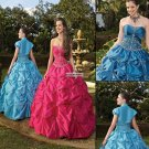 Exquisite  Style  Ball  gown Red with Blue color standard size   Prom  dress