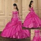 Hot  Pink   Princess   plus size    prom  dress