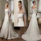 IVORY  COLOR  plus size Mermaid  off-shoulder  lace  wedding  dress