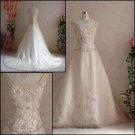 Custom-Made Ivory color   Embroideerd  bridal wedding  dress
