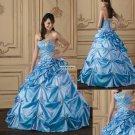 Classic  ruffle  Ball  prom  dress