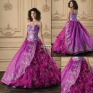 Plus  size V-Neck  Sleeveless  Ball  Prom dress