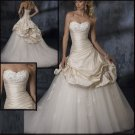 Upscale  sleeveless  wedding  dress
