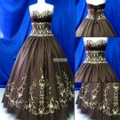 NEW  Arrival  Embroidered    Prom  Gown