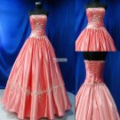 Appliqued  Sleeveless    Party  Gown