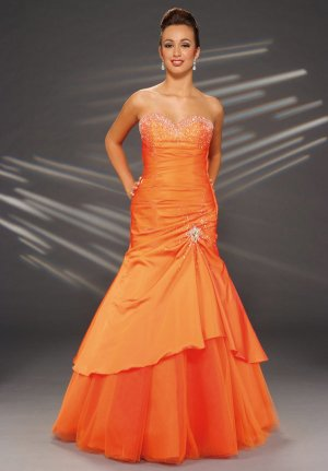 2010 Unique  satin  prom dress