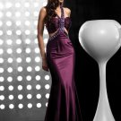 Sexy   Blackless  beaded  evening  gown