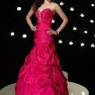 Hot  Pink  A-line  Sweatheart  prom  dress