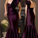Pleated One Shoulder evening Dress