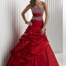 Beaded  ruching  prom  dress