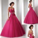 Ruching  and  Beaded  prom dress/ Prom gown