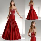 Fashion  strapless  beaded  prom dress