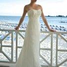 Beach style  ruching  wedding  dress