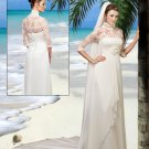 Elegant   formal  wedding  dress