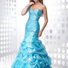 2011  Mermaid  Ruching  &Beaded prom dress