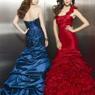 Stunning  Ruching One shoulder Ball gown Prom dress