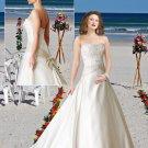 2011  Fan-shaped  Beaded  Bodice Gown